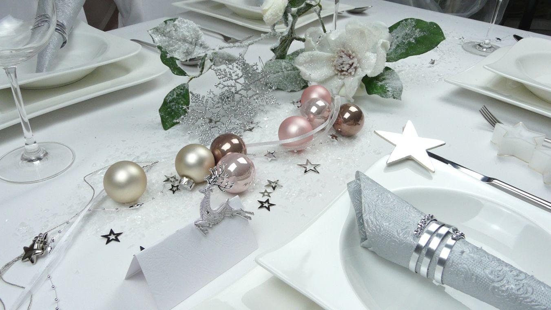 Gastro tec waldau - Weihnachtstischdeko silber ...